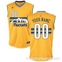 Men's Denver Nuggets adidas Gold Custom Alternate Replica Jersey -   2652790
