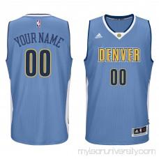 Men's Denver Nuggets adidas Light Blue Custom Swingman Jersey -   2187103