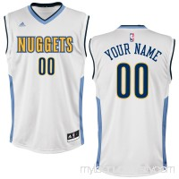 Men's Denver Nuggets adidas White Custom Home Jersey -   2202277