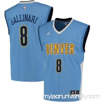 Men's Denver Nuggets Danilo Gallinari adidas Light Blue Replica Basketball Jersey -   2444666