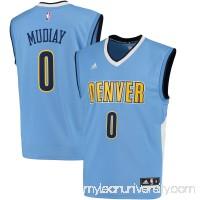 Men's Denver Nuggets Emmanuel Mudiay adidas Light Blue Replica Jersey - -   2444667