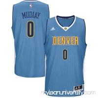 Men's Denver Nuggets Emmanuel Mudiay adidas Light Blue Road Swingman climacool Jersey - 2600089