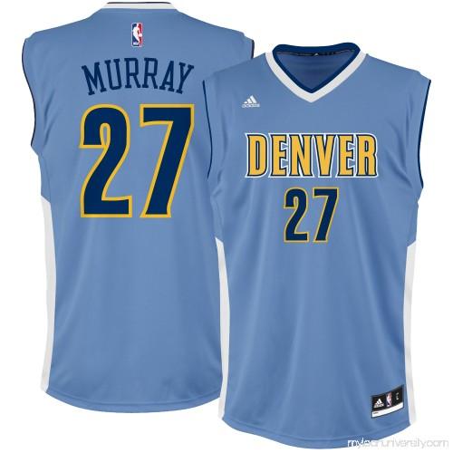 buy popular 1ffec 0daee Men's Denver Nuggets Jamal Murray adidas Light Blue Team ...