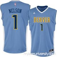 Men's Denver Nuggets Jameer Nelson adidas Light Blue Replica Jersey -   2301441
