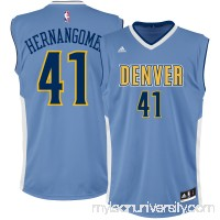 Men's Denver Nuggets Juan Hernangomez adidas Light Blue Team Color Replica Jersey - 2666175