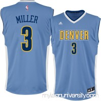 Men's Denver Nuggets Mike Miller adidas Light Blue Replica Jersey -   2301439