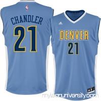 Men's Denver Nuggets Wilson Chandler adidas Light Blue Replica Jersey - 2301443