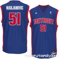 Men's Detroit Pistons Boban Marjanovic adidas Royal Road Replica Jersey -   2621032