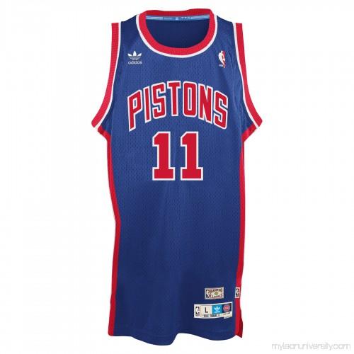 0e19d2ffbae Men's Detroit Pistons Isaiah Thomas adidas Blue Hardwood Classic Swingman  Jersey - 2148683