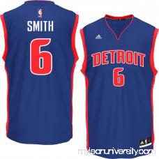 Men's Detroit Pistons Josh Smith adidas Blue Replica Jersey - 1547531