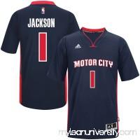Men's Detroit Pistons Reggie Jackson adidas Navy Pride Swingman Jersey -   2446949