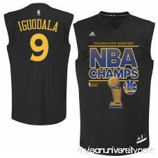 Men's Golden State Warriors Andre Iguodala adidas Black 2015 NBA Finals Champions Jersey - 2163484