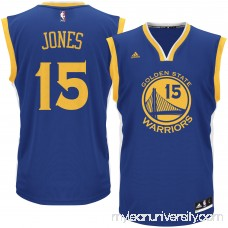 Men's Golden State Warriors Damian Jones adidas Royal Road Replica Jersey - 2621021