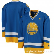 Men's Golden State Warriors G-III Sports by Carl Banks Royal/Gold Hockey Jersey -   2655561