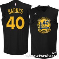 Men's Golden State Warriors Harrison Barnes adidas Black Fashion Replica Jersey - 2122411