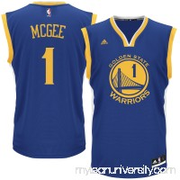 Men's Golden State Warriors JaVale McGee adidas Royal Replica Road Jersey - 2613039