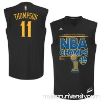 Men's Golden State Warriors Klay Thompson adidas Black 2015 NBA Finals Champions Jersey - 2150666