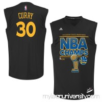 Men's Golden State Warriors Stephen Curry adidas Black 2015 NBA Finals Champions Jersey -   2150665