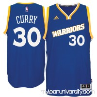 Men's Golden State Warriors Stephen Curry adidas Royal Stretch Crossover Swingman Jersey -   2463043