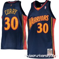 Men's Golden State Warriors Stephen Curry Mitchell & Ness Navy 2009-10 Hardwood Classics Rookie Authentic Jersey -   2413358