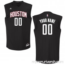 Men's Houston Rockets adidas Black Custom Chase Jersey -   2652035