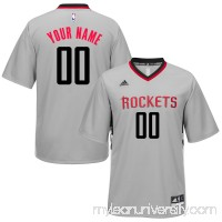 Men's Houston Rockets adidas Gray Custom Alternate Jersey -   2253932