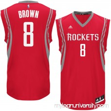 Men's Houston Rockets Bobby Brown adidas Red Road Replica Jersey - 2621036