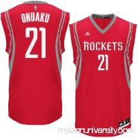 Men's Houston Rockets Chinanu Onuaku adidas Red Road Replica Jersey - 2621038