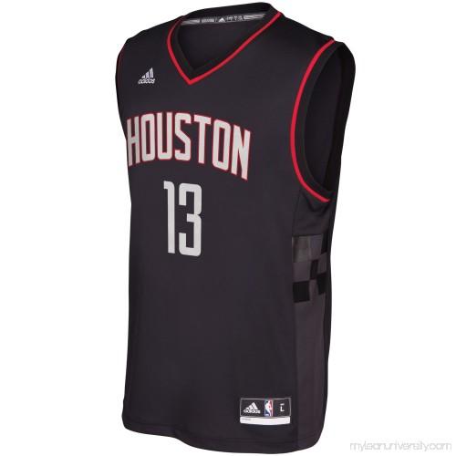 newest b849d 779dc Men's Houston Rockets James Harden adidas Black Alternate ...