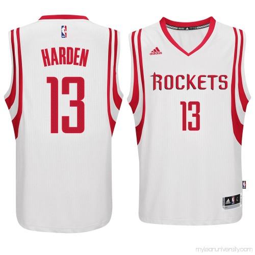 official photos 979a6 d47d8 Men's Houston Rockets James Harden adidas White Swingman ...