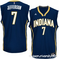 Men's Indiana Pacers Al Jefferson adidas Navy Road Replica Jersey - 2626201