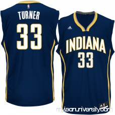 Men's Indiana Pacers Myles Turner adidas Navy Replica Jersey -   2305418
