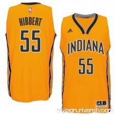 Men's Indiana Pacers Roy Hibbert adidas Gold Player Swingman Alternate Jersey - 1768799