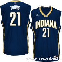 Men's Indiana Pacers Thaddeus Young adidas Navy Road Replica Jersey -   2626204