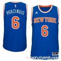 Men's Kristaps Porzingis New York Knicks adidas Royal Swingman Jersey -   2285201