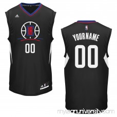 Men's LA Clippers adidas Black Custom Alternate Jersey -   2253933