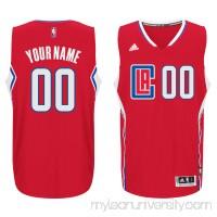 Men's LA Clippers adidas Red Custom Swingman Jersey -   2187359
