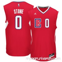 Men's LA Clippers Diamond Stone adidas Red Team Color Replica Jersey -   2666170