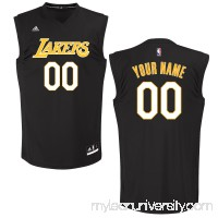 Men's Los Angeles Lakers adidas Black Custom Chase Jersey -   2652038