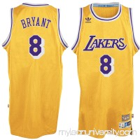 Men's Los Angeles Lakers Kobe Bryant adidas Gold Hardwood Classics Swingman Jersey -   2326715