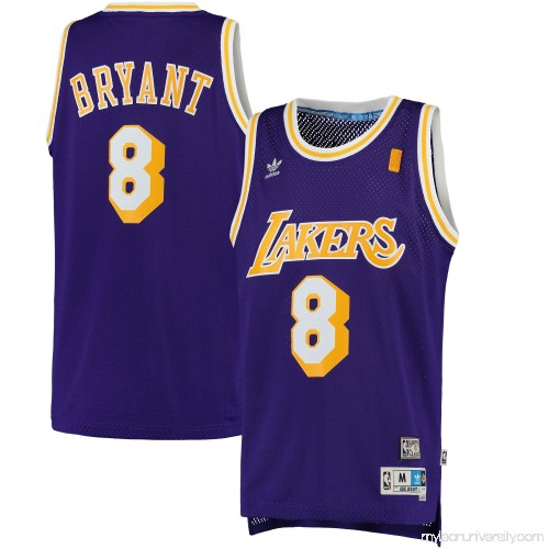 38f9e5818efc Men s Los Angeles Lakers Kobe Bryant adidas Purple Road Hardwood Classics  Swingman Jersey - 2444811