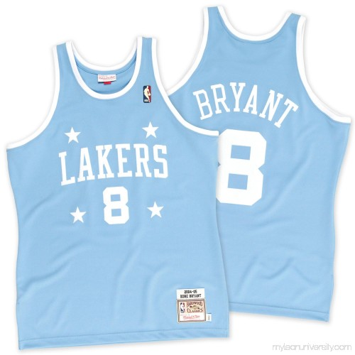 cd8641f2bc6 Men's Los Angeles Lakers Kobe Bryant Mitchell & Ness Light Blue 2004-2005  #8 Authentic Jersey - 2242985