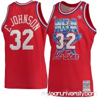 Men's Los Angeles Lakers Magic Johnson Mitchell & Ness Red Hardwood Classics 1991 All-Star Authentic Jersey -   2601140