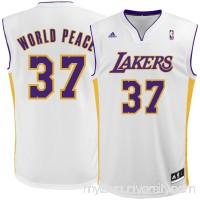 Men's Los Angeles Lakers Metta World Peace adidas White Replica Jersey -   2305739