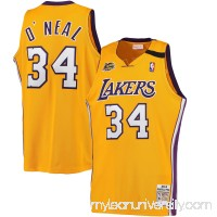 Men's Los Angeles Lakers Shaquille O'Neal Mitchell & Ness Gold 1999-00 Hardwood Classics Authentic Jersey -   2379786