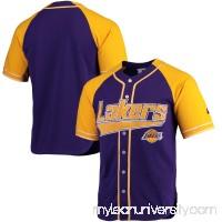 Men's Los Angeles Lakers Starter Purple/Gold Baseball Jersey -   2655409