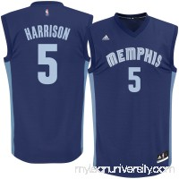 Men's Memphis Grizzlies Andrew Harrison adidas Navy Home Replica Jersey -   2621528