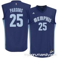 Men's Memphis Grizzlies Chandler Parsons adidas Navy Replica Road Jersey - 2576925