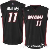 Men's Miami Heat Dion Waiters adidas Black Replica Jersey -   2626194