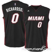 Men's Miami Heat Josh Richardson adidas Black Team Color Replica Jersey -   2666188
